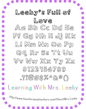 Font for personal and commercial use - Leeby's Full of Love (Hearts)