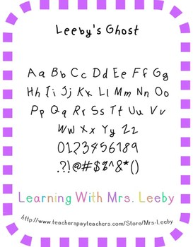 Font for personal and commercial use - Leeby's Ghost