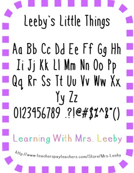 Font for personal and commercial use - Leeby's Little Things