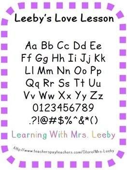 Font for personal and commercial use - Leeby's Love Lesson