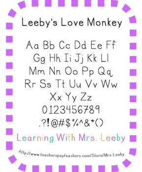 Font for personal and commercial use - Leeby's Love Monkey