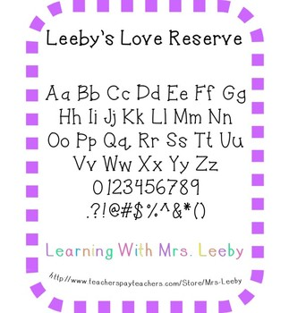 Font for personal and commercial use - Leeby's Love Reserve
