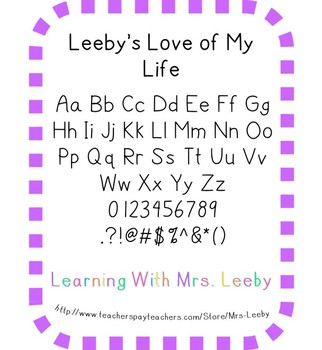 Font for personal and commercial use - Leeby's Love of My Life