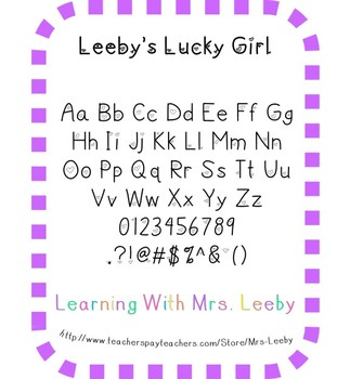 Font for personal and commercial use - Leeby's Lucky Girl