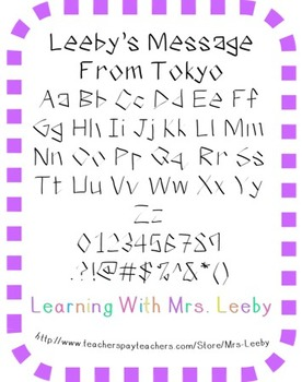 Font for personal and commercial use - Leeby's Message From Tokyo