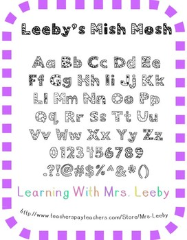 Font for personal and commercial use - Leeby's Mish Mosh