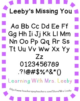 Font for personal and commercial use - Leeby's Missing You