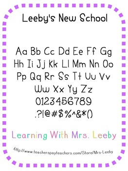 Font for personal and commercial use - Leeby's New School