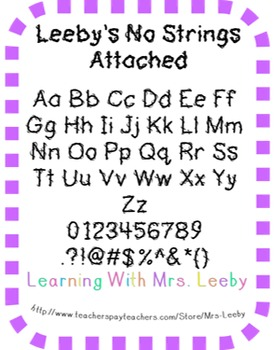 Font for personal and commercial use - Leeby's No Strings Attached