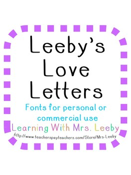 Font for personal and commercial use - Leeby's One Love (One Heart Per Letter)