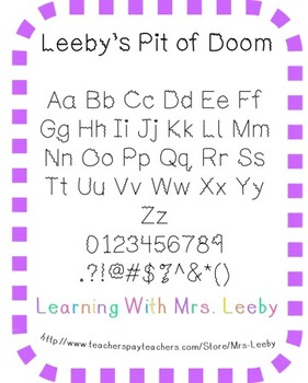 Font for personal and commercial use - Leeby's Pit of Doom