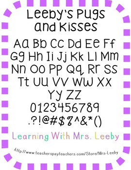 Font for personal and commercial use - Leeby's Pugs and Kisses