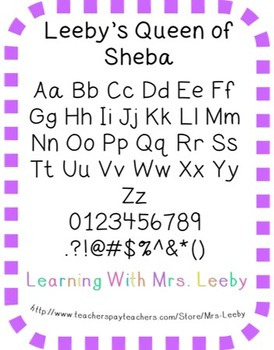 Font for personal and commercial use - Leeby's Queen of Sheba