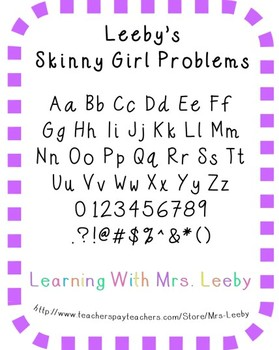 Font for personal and commercial use - Leeby's Skinny Girl Problems