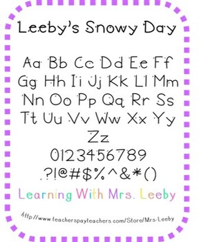 Font for personal and commercial use - Leeby's Snowy Day