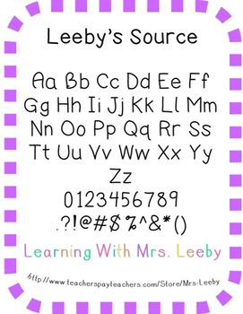 Font for personal and commercial use - Leeby's Source