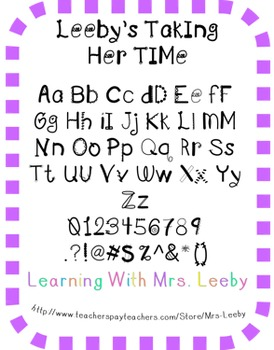 Font for personal and commercial use - Leeby's Taking Her Time