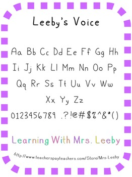 Font for personal and commercial use - Leeby's Voice