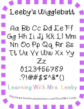 Font for personal and commercial use - Leeby's Wigglebutt
