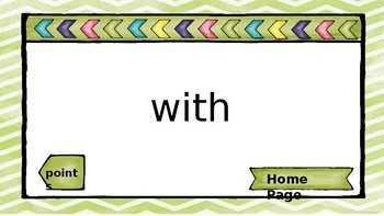 Fountas and Pinnell First Grade High Frequency Word List 5