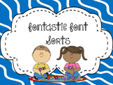 Fontastic Letter Font Sorts - All 26 letters - CCSS Aligned