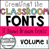 Creating4 the Classroom Fonts Volume 1