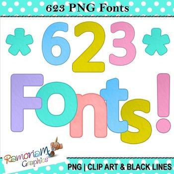 Alphabet letters clip art