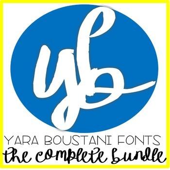 Fonts Fonts and more Fonts Bundle YB Yara Boustani 151 in Total