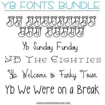 Fonts GROWING Bundle YB Yara Boustani 151 in Total