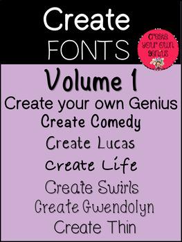 Fonts- Create Fonts Vol 1