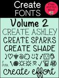 Fonts- Create Fonts Vol 2