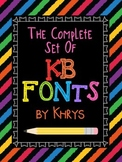 Fonts Fonts Fonts! 170 Personal and Commercial Use Fonts: ALL KB Fonts by Khrys