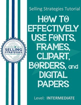 Fonts, Frames, Borders, Clipart, and Digital Papers
