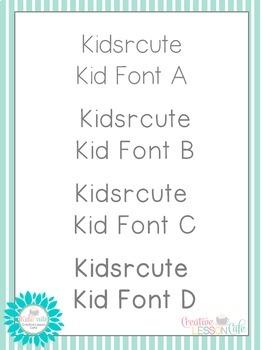 Fonts- Kid-Friendly