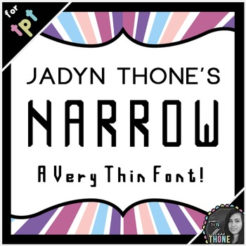 Fonts - Narrow - Personal Use