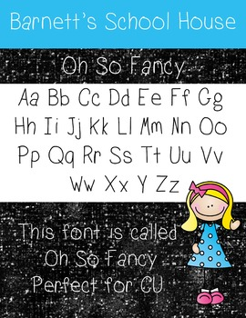 Fonts: Oh So Fancy Commercial Use Lifetime