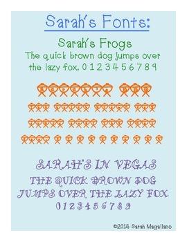 Fonts: Sarah's Fonts