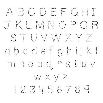 Fonts- TeachingNinjas Dotted