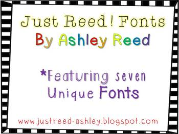 Fonts by Just Reed! (For Personal or Commercial Use)