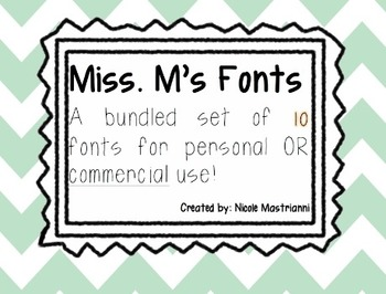 Fonts by Miss M!