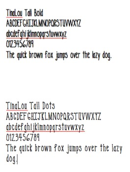Fonts by TinaLou