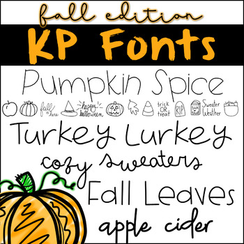 Fonts for Commercial Use- KP Fonts FALL