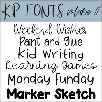 Fonts for Commercial Use- KP Fonts Volume 11