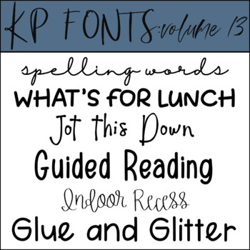 Fonts for Commercial Use- KP Fonts Volume 13