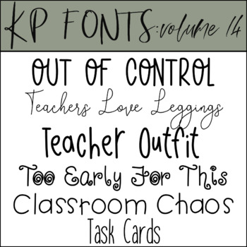 Fonts for Commercial Use- KP Fonts Volume 14