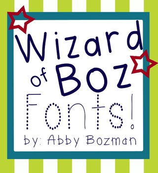 Fonts *Free for Personal Use* - Wizard of Boz Starter Set