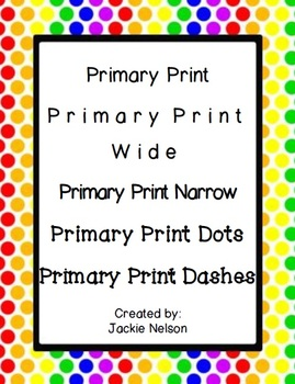 Fonts for Teachers: Primary Print Pack