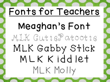 Fonts for Teachers (Set 1)