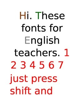 Fonts for teachers