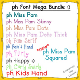 Fonts: ph Font Mega Bundle (with commercial use license)